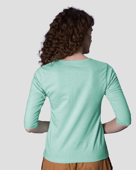 Shop Pandacorn Round Neck 3/4th Sleeve T-Shirt-Back
