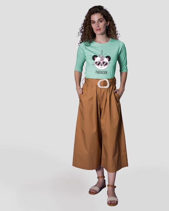 Shop Pandacorn Round Neck 3/4th Sleeve T-Shirt-Full