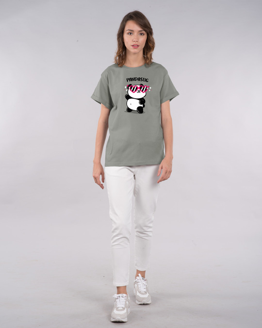 Shop Pandastic Boyfriend T-Shirt-Full