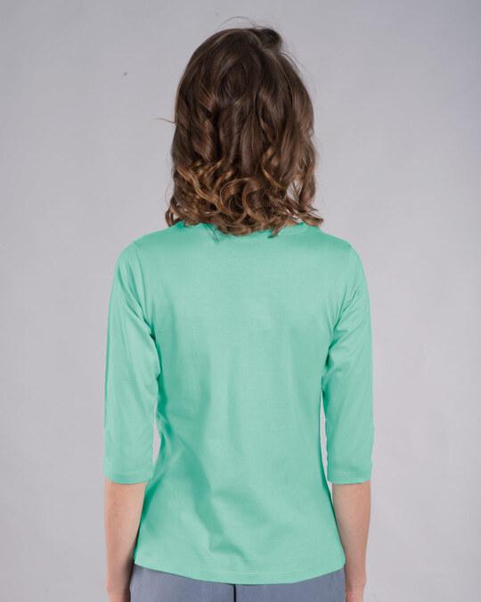 Shop Pandastic Round Neck 3/4th Sleeve T-Shirt-Back