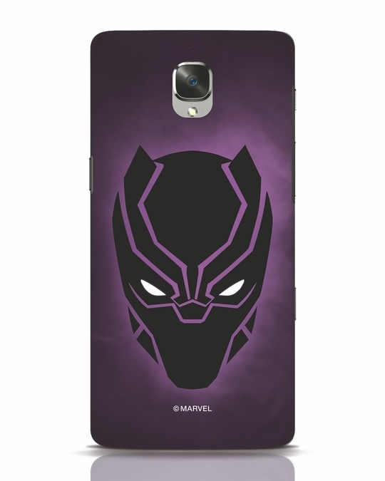 Shop Panther Black OnePlus 3 Mobile Cover-Front