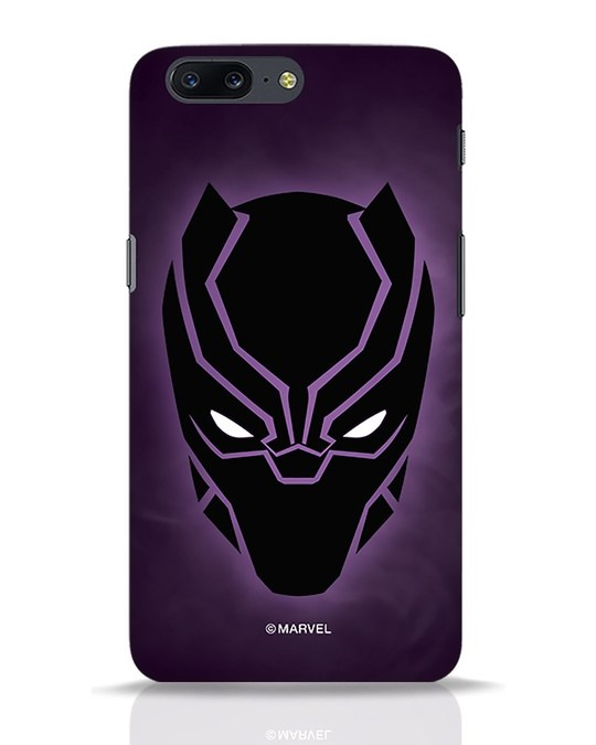 Shop Panther Black OnePlus 5 Mobile Cover-Front