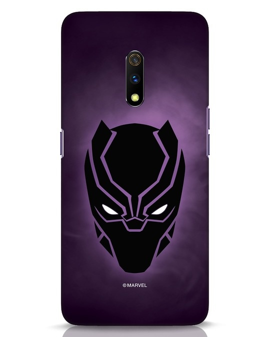 Shop Panther Black Realme X Mobile Cover-Front