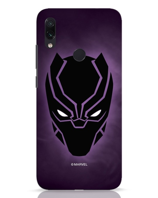 Shop Panther Black Xiaomi Redmi Note 7 Mobile Cover-Front