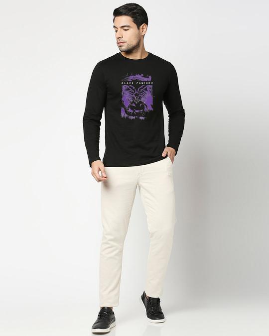 Shop Panther King Full Sleeve T-Shirt Black (AVL)-Design