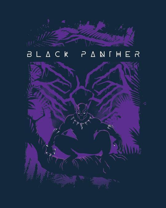 Shop Panther King Round Neck Vest Navy Blue (AVL)-Full