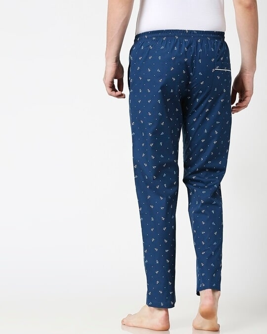 Shop Paper Blue Planes All Over Printed Pyjama-Full
