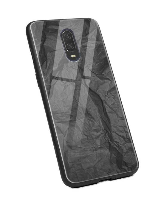 Shop Paper Crush OnePlus 6T Glass Mobile Cover-Back