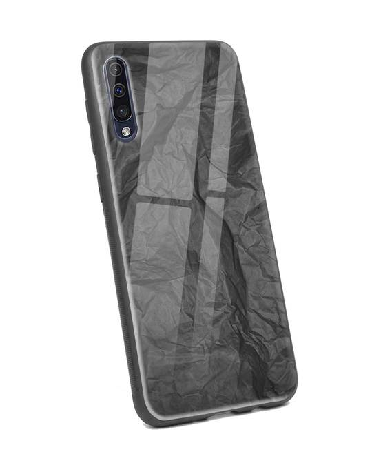 Shop Paper Crush Samsung Galaxy A50 Glass Mobile Cover-Back