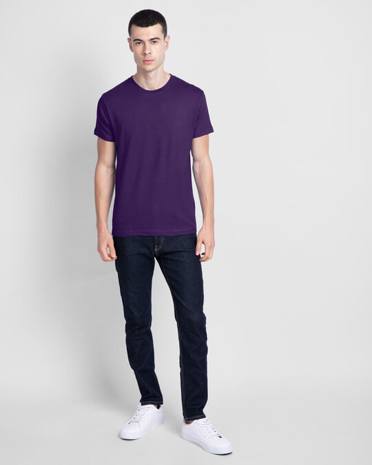 Shop Parachute Purple Half Sleeve T-Shirt-Full