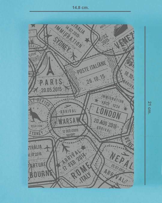 Shop Passport Stamps Notebook-Back
