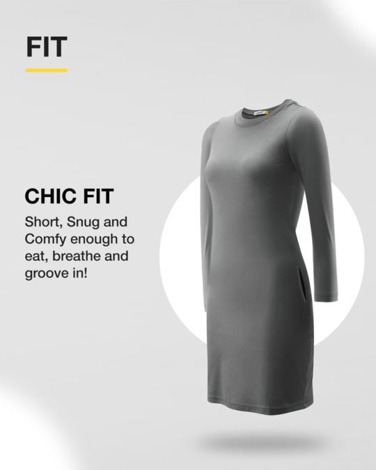 Shop Pastel Beige High Neck Pocket Dress