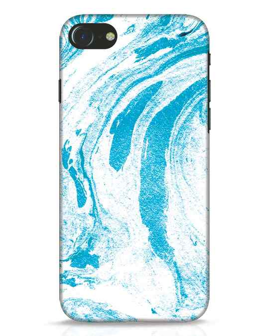 Shop Pastel Blue Marble iPhone 8 Mobile Cover-Front