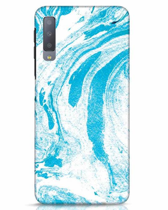Shop Pastel Blue Marble Samsung Galaxy A7 Mobile Cover-Front