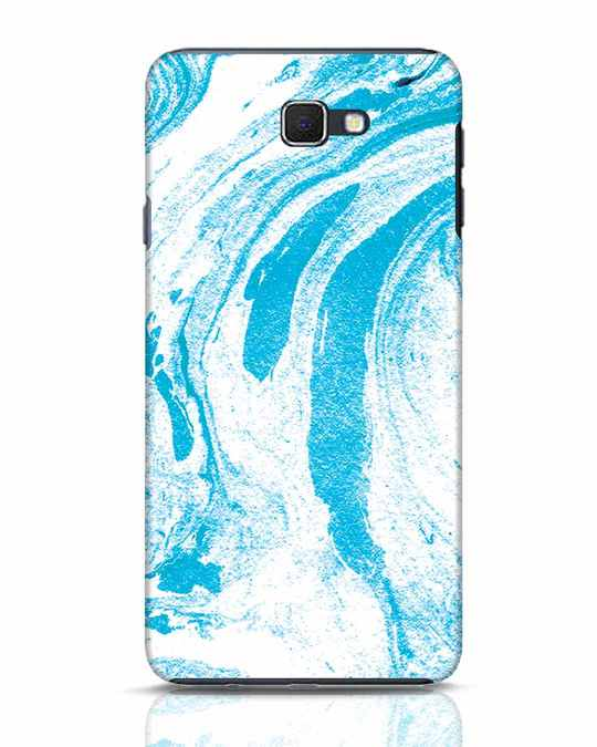 Shop Pastel Blue Marble Samsung Galaxy J7 Prime Mobile Cover-Front
