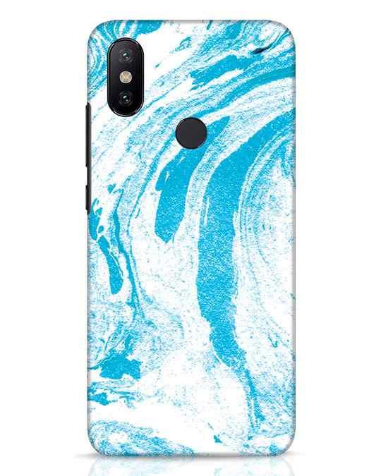 Shop Pastel Blue Marble Xiaomi Mi A2 Mobile Cover-Front
