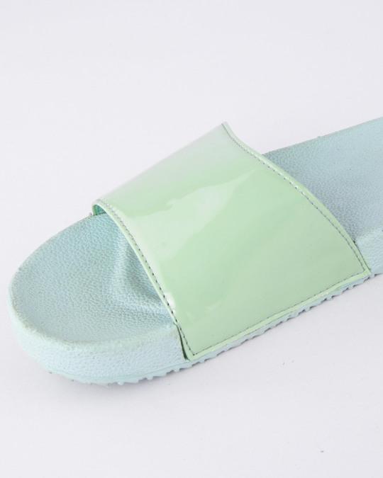 Shop Women Pastel Green Sliders