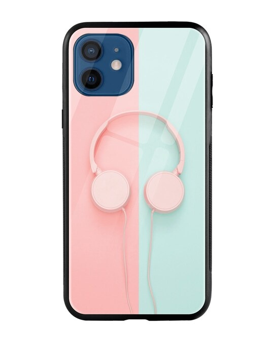 Shop Pastel Headphones iPhone 12 Mobile Cover-Front