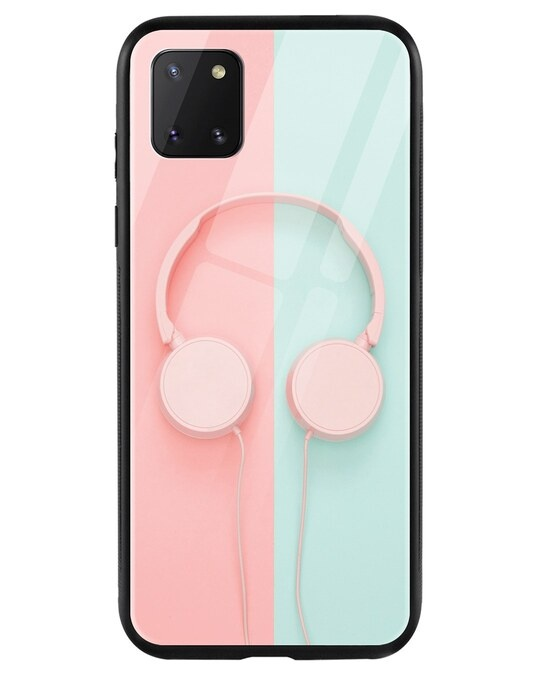 Shop Pastel Headphones Samsung Galaxy Note 10 Lite Mobile Cover-Front