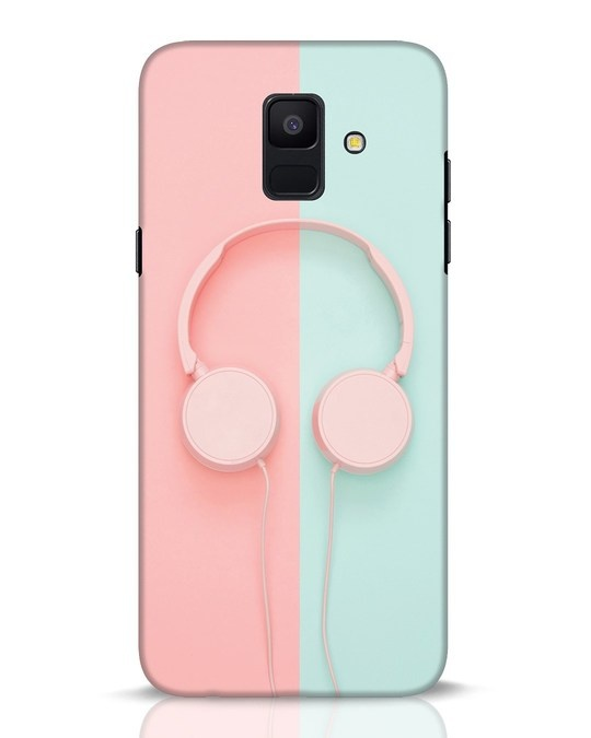 Shop Pastel Music Samsung Galaxy A6 2018 Mobile Cover-Front