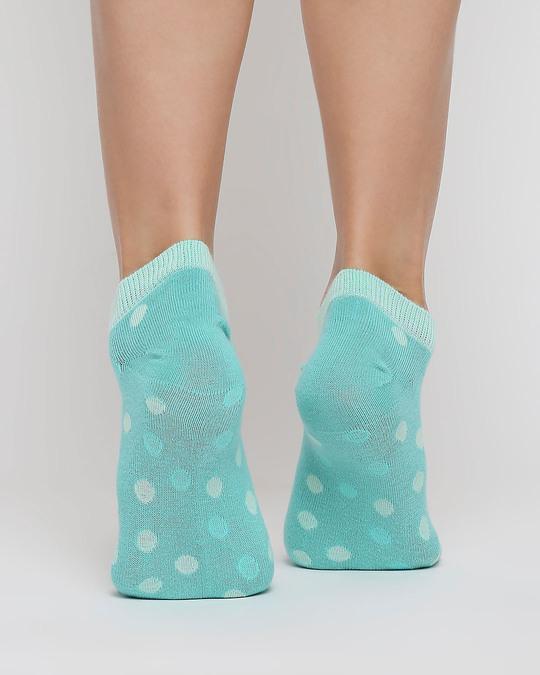 Shop Pastel Polka No Show Socks-Design