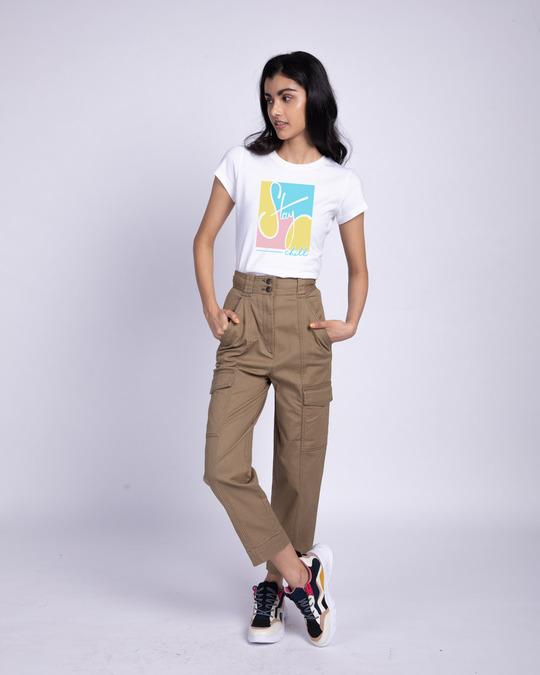 Shop Pastel Stay Chill Half Sleeve T-Shirt-Design