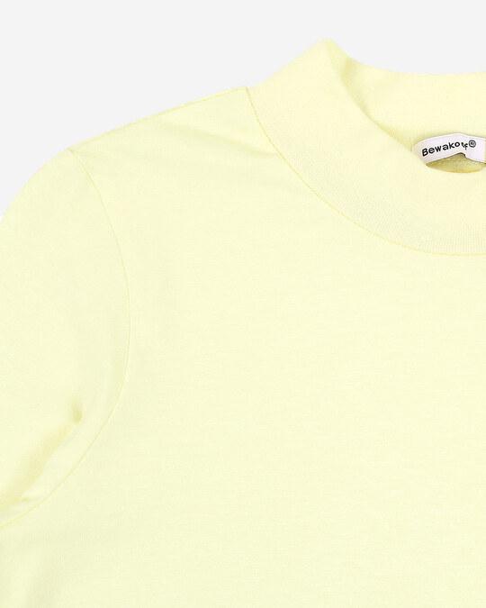 Shop Pastel Yellow High Neck Pocket Dress