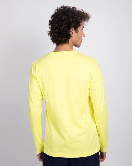 Shop Pastel Yellow V-Neck Full Sleeve T-Shirt-Design