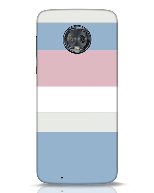 Shop Pastels Stripes Moto G6 Mobile Cover-Front