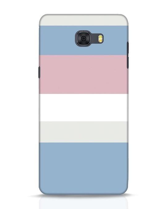 Shop Pastels Stripes Samsung Galaxy C9 Pro Mobile Cover-Front