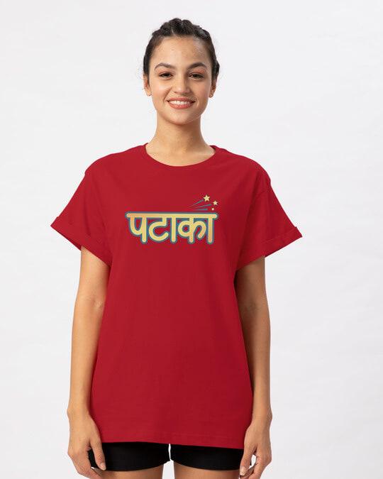 Shop Patakha Boyfriend T-Shirt-Front