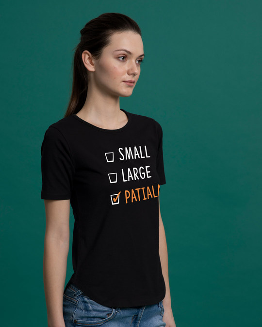 Shop Patiala Basic Round Hem T-Shirt-Back