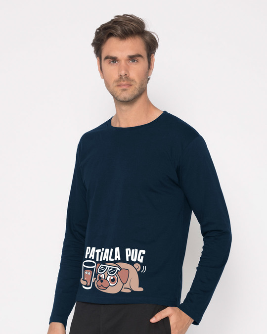 Shop Patiala Pug Full Sleeve T-Shirt-Back
