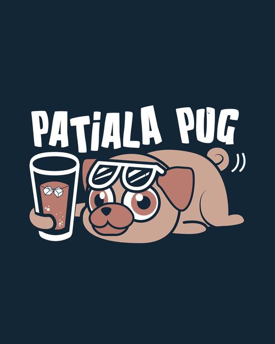 Shop Patiala Pug Half Sleeve T-Shirt