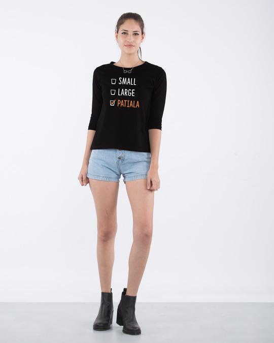 Shop Patiala Round Neck 3/4th Sleeve T-Shirt-Full