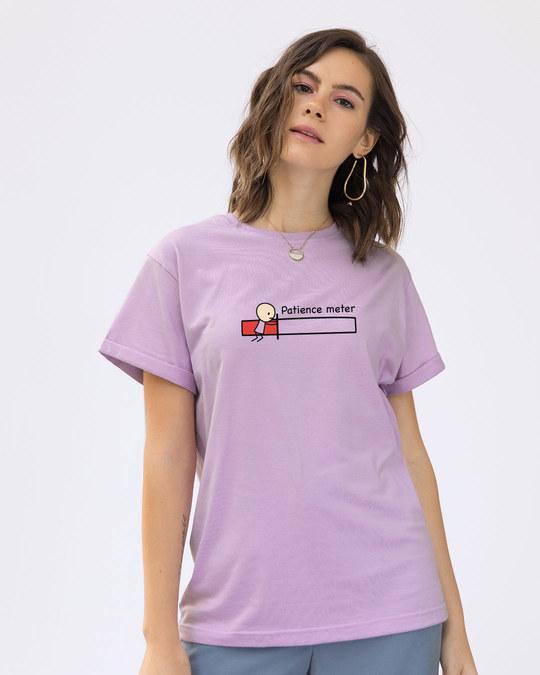 Shop Patience Meter Boyfriend T-Shirt-Front