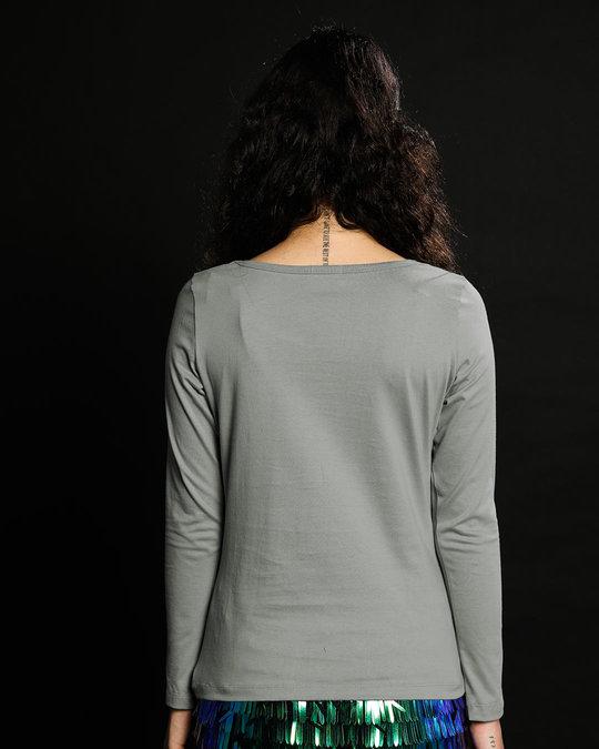 Shop Patience Meter Scoop Neck Full Sleeve T-Shirt-Back