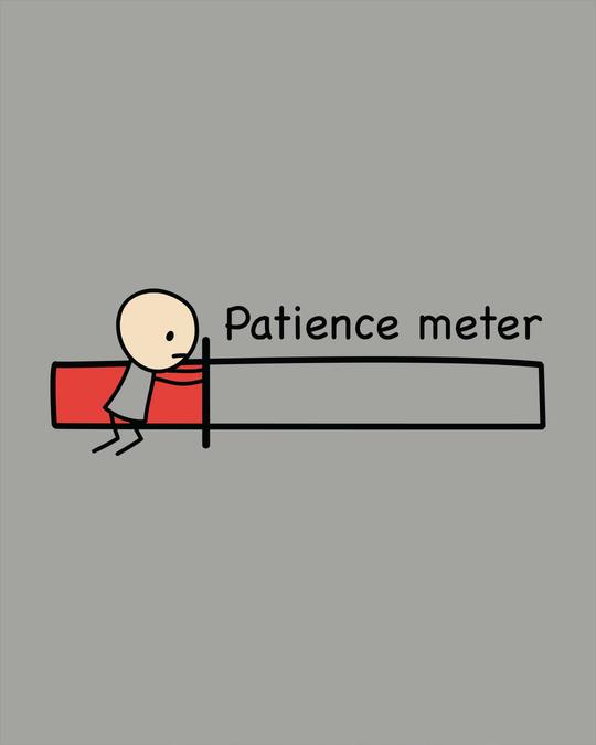 Shop Patience Meter Scoop Neck Full Sleeve T-Shirt-Full