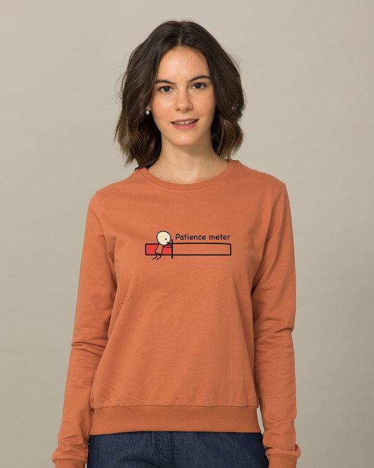 Shop Patience Meter  Sweatshirt-Front
