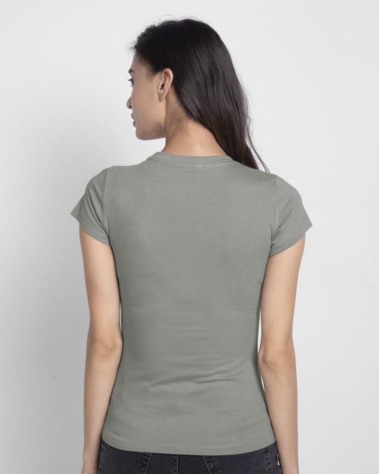 Shop Patriarchy People Half Sleeve Printed T-Shirt Meteor Grey-Back
