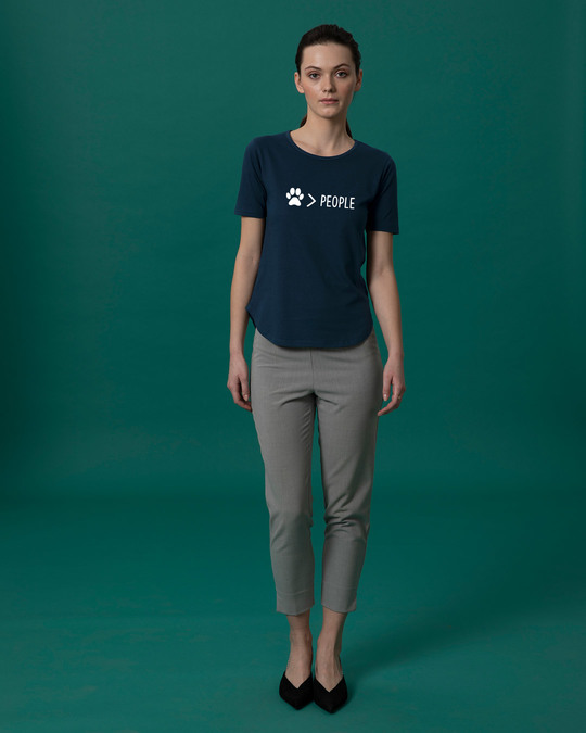 Shop Paw Over People Basic Round Hem T-Shirt
