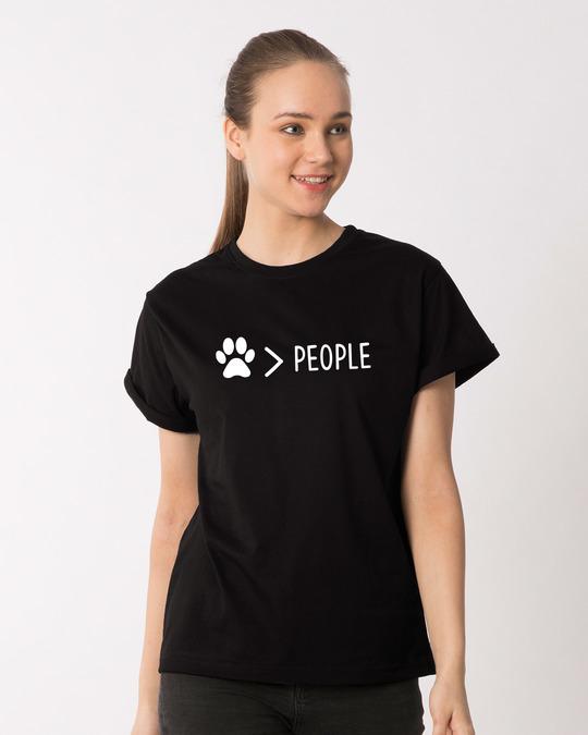 Shop Paw Over People Boyfriend T-Shirt-Front