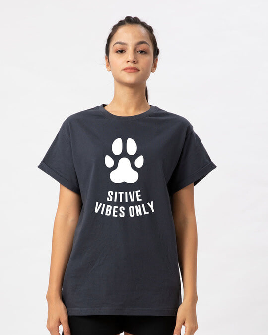 Shop Pawsitive Only Boyfriend T-Shirt-Front