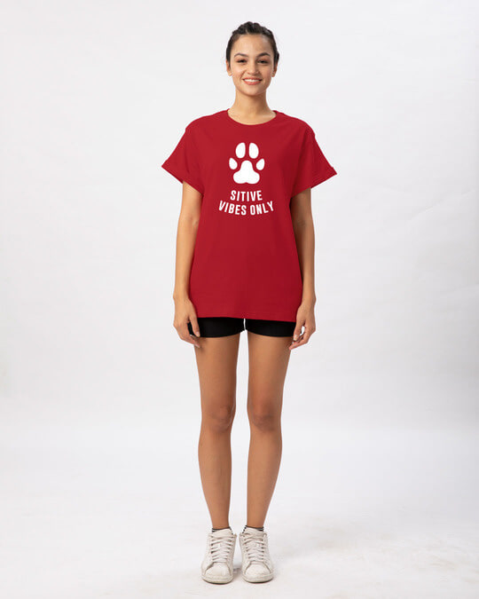 Shop Pawsitive Only Boyfriend T-Shirt-Full