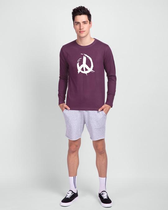 Shop Peace Brush Stroke Full Sleeve T-Shirt-Full
