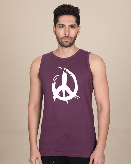 Shop Peace Brush Stroke Vest-Front