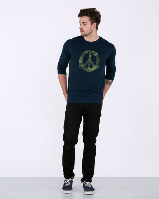 Shop Peace Camouflage Full Sleeve T-Shirt-Full