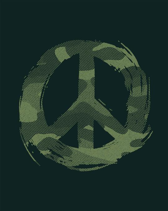 Shop Peace Camouflage Half Sleeve T-Shirt