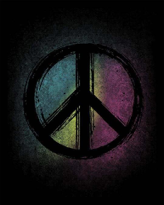 Shop Peace Colors Boyfriend T-Shirt