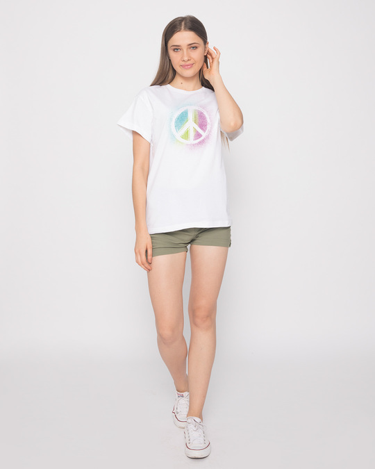 Shop Peace Colors Boyfriend T-Shirt